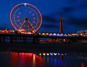 Blackpool Pier Lights at Night