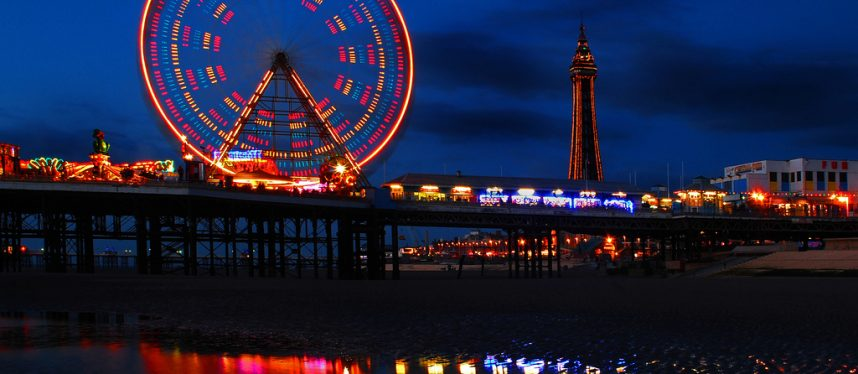 Blackpool Pier Lights at Night